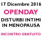 OPENDAY Disturbi intimi in menopausa