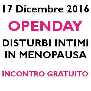 OPENDAY Disturbi intimi in menopausa